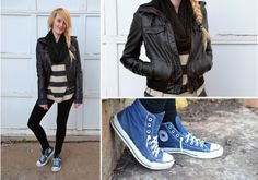 outfits with leggings | ... 21, top - Gap c/o Chris, sneakers - Converse, sweater leggings