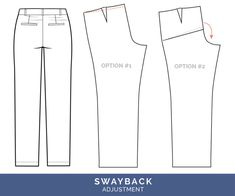Sewing Men Clothes Swayback Adjustment // Pants Fitting Adjustments // Closet Case Patterns - The best tips for pants fitting! Get our in-depth instructions to diagnose and correct 16 common pants fitting adjustments Sewing Patterns Girls, Clothing Patterns, Shirt Patterns, Dress Patterns, Altering Pants, Altering Clothes, Sewing Pants, Sewing Clothes, Sewing Men