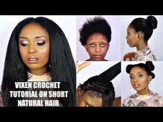 How to do Straight Crochet Braids with a Knotless Part | Outre Dominican Blowout Straight - YouTube