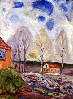Edvard Munch, Spring in Åsgårdstrand, 1905 on ArtStack #edvard-munch #art
