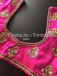 New Dress Spring Simple Sandals Ideas Cutwork Blouse Designs, Wedding Saree Blouse Designs, Best Blouse Designs, Pattu Saree Blouse Designs, Blouse Patterns, Wedding Blouses, Dress Designs, Simple Embroidery Designs, Maggam Work Designs