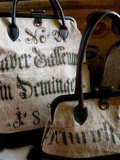 antique german flour sack bags!!!