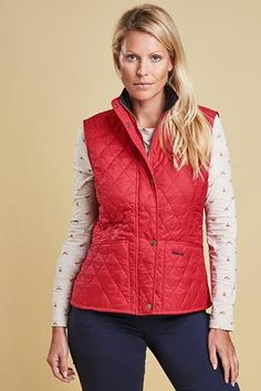 Barbour Gilet Ladies Summer Liddesdale in Raspberry - Smyths Country Sports Raspberry, Country, Lady, Sports, Summer, Color, Collection, Sport