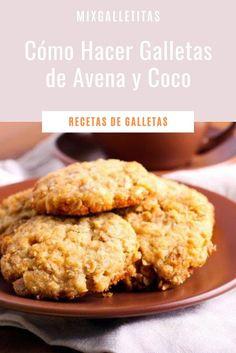 Cómo hacer galletas de avena y coco Sin Gluten, Gluten Free, Sugar Free, Banana Bread, Cereal, Food And Drink, Cookies, Breakfast, Desserts
