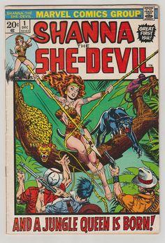 Shanna the She-Devil Vol 1 1 Bronze Age Comic by RubbersuitStudios #shannatheshedevil #jimsteranko #comicsforsale