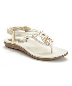 Look at this #zulilyfind! White Zita Sandal by Henry Ferrera #zulilyfinds