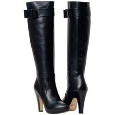 Marion Black Tall Leather Boots from PaoloShoes.com