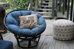 やわらかクッションで座り心地抜群なローチェアー:ヴィンテージ&レトロ,ブルー系,Home's Style(ホームズスタイル)の座椅子・ローチェアの画像