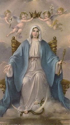 Kuvahaun tulos haulle Blessed Virgin Mary Queen Of Angels Virgen María Poster