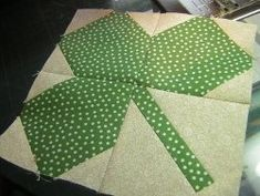 St. Patrick's Day Shamrock Quilt Part 1