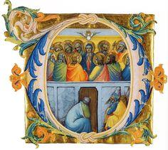 LORENZO MONACO. Antiphonary. 1396. Biblioteca Apostolica, Vatican.