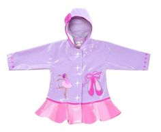Ballerina Rain Coat for little girls