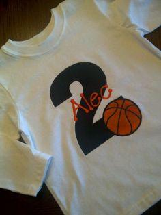 Basketball Birthday Boy Shirt personalized name by gdavenport, $25.00