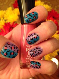 Leopard nails #nailart