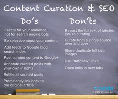 Content Curation & SEO: Do's and Don'ts  Meg Sutton	 February 20, 2014