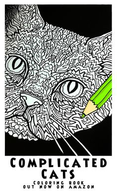 American Wirehair - Image from Complicated Cats - A Fiddly Feline Coloring Book - Illustrated by Antony Briggs out now on Amazon. UK link: http://amzn.to/1O1rkDc USA link: http://amzn.to/1ooAMf8