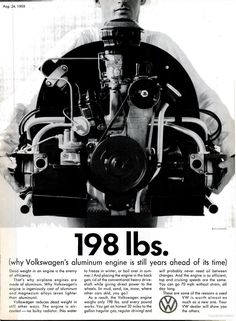 '198 lbs' Classic #VW Ad / Years ahead of its time