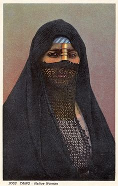 """""""Cairo - Native Woman"""" ~ collection of coloured postcards by Lehnert & Landrock 