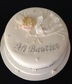 Beautiful and cute Angel Baptism Cake.