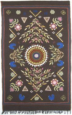 Neulova lehmä :: Knitting Cow :: La vache qui tricote: Rekipeitto Scandinavian Embroidery, Tapestry Weaving, Beaded Embroidery, Handicraft, Fiber Art, Folk, Beads, History, Rugs