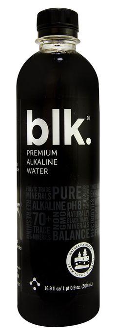 BLK Beverages Premium Alkaline Water Naturally Black