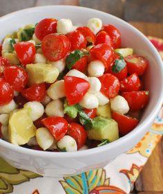 Mozzarella, Tomato, Avocado Salad