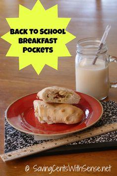 Homemade Breakfast Pockets for #backtoschool #healthy #breakfasts