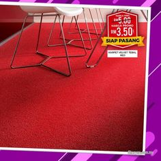 Other for sale, RM4 in Klang, Selangor, Malaysia. VALVET CARPET WILL GIVE YOY THE LOOK YOU WANT!!  RM 3. 50/SQFT SUPPLY ONLY   Looking to revamp your Dark Grey Carpet, Red Carpet, Office Carpet, Ad Home, Velvet, Office Rug, Home