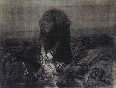 Käthe Kollwitzケーテ・コルヴィッツ(1867ー1945)「(連作『農民戦争』より)戦場」(1907)