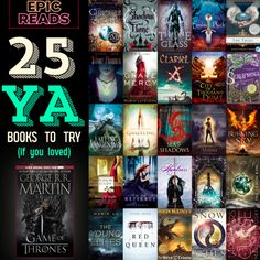 25 YA Books For GAME OF THRONES Fans. OMG I just started reading the Game of Thrones books and love them! Ya Books, I Love Books, Good Books, Books To Read, Reading Books, Reading Lists, Book Suggestions, Book Recommendations, Book Of Life