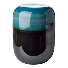 Buy the Ceramic Pill Stool - Blue Bronze Gradient from Pols Potten at AMARA. Ceramic Stool, Ceramic Table, Bronze, Vases, Art Et Design, Muuto, Plastic Adirondack Chairs, Boho Home, Wedding Chairs