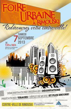 Participez à la Foire Urbaine le 7 septembre de 13 h à 16 h au centre-ville de Rimouski!