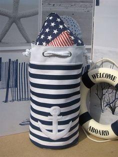 Shrimps & Tiddlers Interiors. nautical storage bag