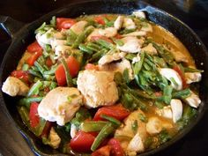 Chicken with Green Beans and Tomato - Low carb recipes suitable for all low carb diets - Sugar-Free Low Carb Recipes