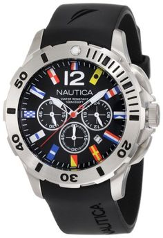 Nautica Men's N18636G Bfd 101 Dive Style Chrono Flag Watch        Brand:      NAUTICA        List Price: $185.00      Buy New: $131.07