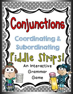 This Fiddle Strips! game includes 20 play strips, 5 fiddle strips, a recording sheet, game directions, and an answer key. Students will play to identify coordinating or subordinating conjunctions. This engaging grammar game can be placed at literacy centers and implemented as review or an assessment!Please see my store for more Fiddle Strips games!Thanks for viewing!Amber Socaciu