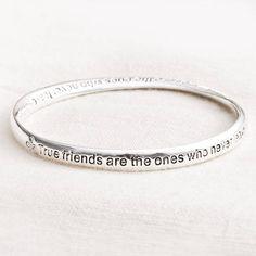 'true friends' message bracelet by bloom boutique | notonthehighstreet.com