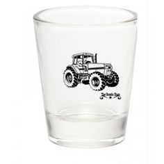 Farming Tractor Design Shot Glass