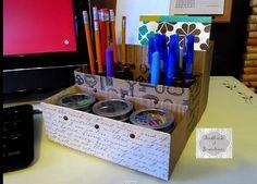 Organizador de escritorio o de utiles escolares
