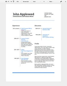 Resume On Google Docs Always Have The Right Resume For The Jobcreate Your Digital Resume .