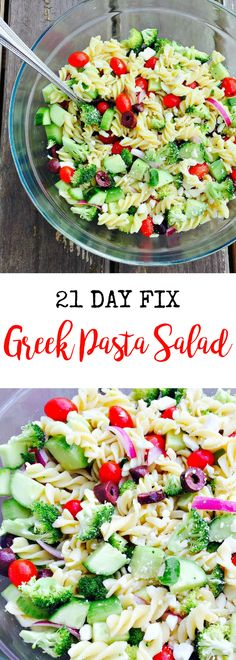 21 Day Fix Greek Pasta Salad | Confessions of a Fit Foodie