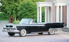 The Coolest Vintage Cars On Sale In London ~   1959 Ford Fairlane Galaxie 500 Sunliner Convertible Estimate: £20,000-£22,000 Est. 200 hp, 292 cu. in. overhead valve V-8 engine with Edelbrock four-barrel carburettor and intake, automatic transmission, independent front suspension, live rear axle suspension, and four-wheel hydraulic drum brakes.