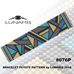 Peyote bracelet pattern odd count peyote by LunamisBeadsPatterns Peyote Stitch Patterns, Bead Loom Patterns, Beaded Jewelry Patterns, Bracelet Patterns, Beading Patterns, Bead Loom Bracelets, Peyote Beading, Beaded Bracelets, Seed Beads
