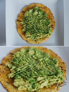 granola files : avocado lime sea salt on a corn tortilla