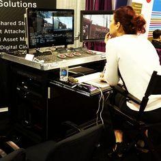 Comfortable workstation for DITs and On-set colorists. bigfootmobilecarts.com