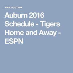 Auburn 2016 Schedule - Tigers Home and Away - ESPN