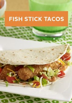 What makes this Fish Stick Tacos recipe great is that it's wallet friendly! Try this dish for dinner tonight.
