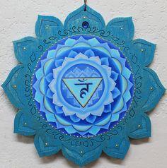 5th chakra throat chakra Vishuddha chakra Blue by LoriFelixArtwork