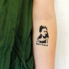 2 Frida Kahlo Temporary Tattoos GeekTat by GeekTat on Etsy