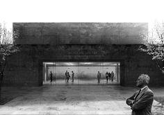 Campo Baeza . Gabrion . nuevo edificio para el Museo del Louvre . Lievin (6)